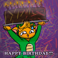 HAPPY BIRTHDAY FROM NEKORAPTOR!!! by GrumpyCrisp
