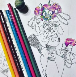 Magical (cat)Girl || progress by cherryhobbit