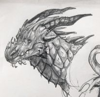 Dragon sketch by DragonStalk