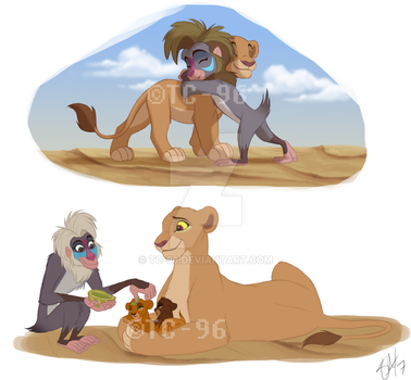 The Lion King - Kiara and Makini by TC-96