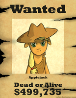 MLP Applejack Wanted by LoCeri