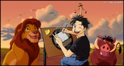 Me and our Lion King friends 2.0