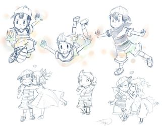 Mother Earthbound sketches by roleplay14