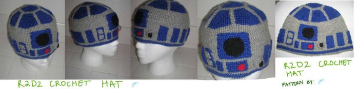 R2D2 Crochet hat by Zikaeqs