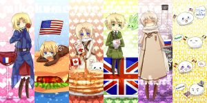 Hetalia Bookmarks by mikokume-raie