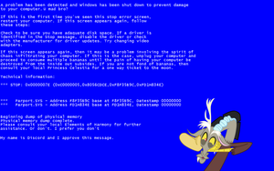 Discord BSoD Wallpaper by postcactus