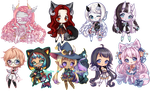 C: Teeny Tiny Chibi Batch 03 by KirasElixir