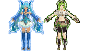 [ mmd ] a couple WIPs ( dl when finished! ) by aeriiie