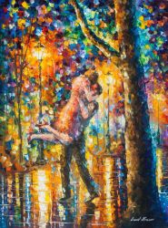 Jump Kiss by Leonid Afremov by Leonidafremov