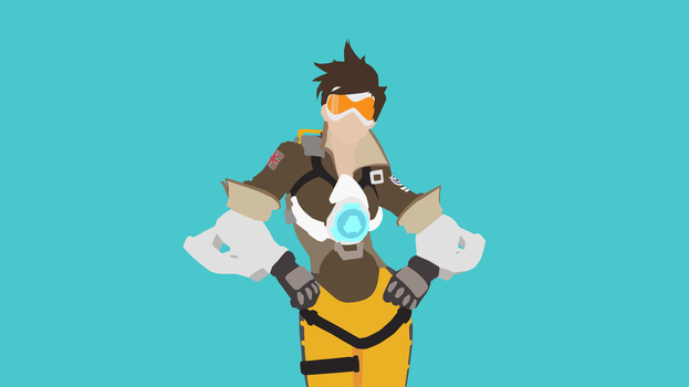 Tracer Vector Art Wallpaper by WalidSodki