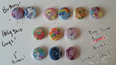 EARLY SALE MLP BUTTONS! by TheEcchiQueen