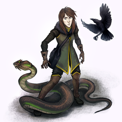 Adel and Beef the Snake by Serpentwined