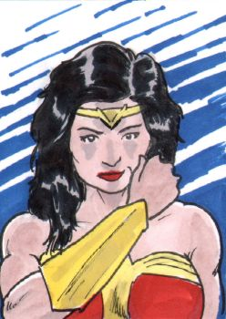 Wonder Woman Sketch Card - ECCC 2018 by pjperez