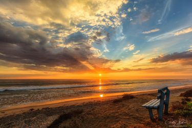 The Blue Bench by AndrewShoemaker