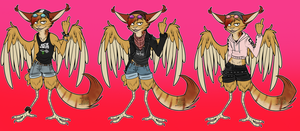 Outfit update - Ashe Fursona reference by Ashesfordayz