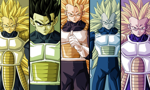 Commission - Saiyans by HomolaGabor