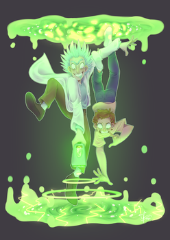 Rick and Morty: Portal Hopping by Cherryberrybonbon