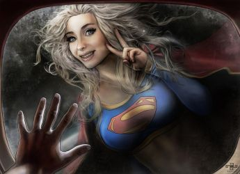 Super Girl by BerenyiArts