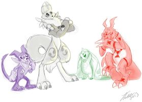 The Tamer Digimon plus Impmon by itsbetsy by EHH123