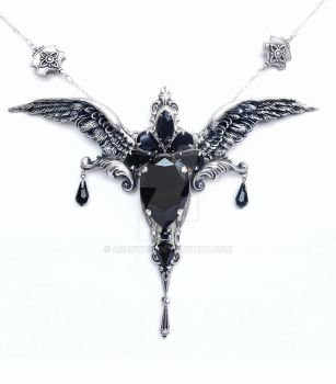 Perdition - Black Gothic Necklace by Aranwen