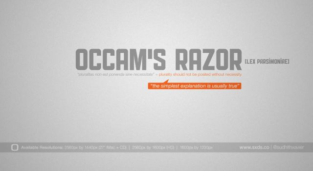Occams Razor Wallpaper by sudhithxavier