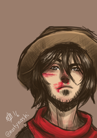 Quick Jesse McCree doodle by bleachedb0nes