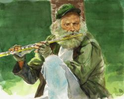 Flute Player by grobles63