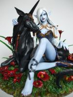 Darkness - Elf and unicorn 05 by Sea9040