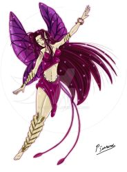 Purple faery by Sombreval