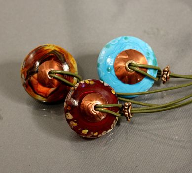 Chunky Disc Eye Candy Necklaces by CopperDancer