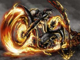 Ghost Rider 2 color by Fpeniche