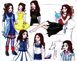 Storybrooke Belle outfit designs by HollyRoseBriar