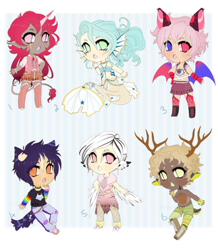 Dark Fantasy Collab Adopts: Open! by DCRoleplays
