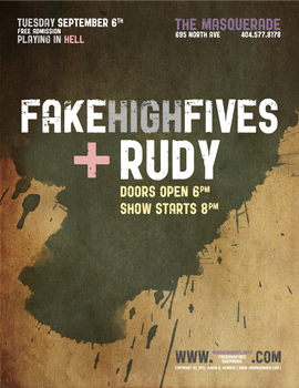 Flier for Fake High Fives 6 by ronamo