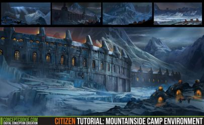 Citizen Tutoral: Mountainside Camp Environment by CGCookie