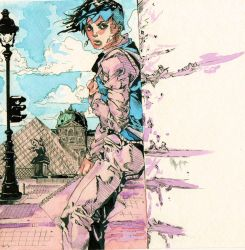 Study of Hirohiko Araki's Rohan at the Louvre by DisintegrationStreet