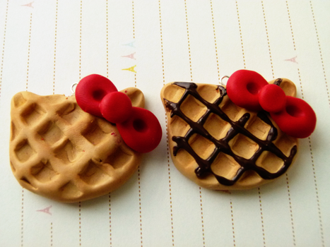 Hello Kitty Waffles by ViVoRiNo99