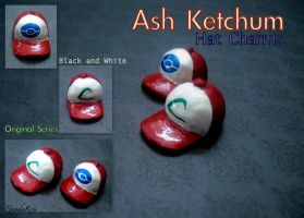 Ash Ketchum's Hat Charms by GandaKris