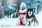 Snow Bunny Nidalee by MorganaCosplay