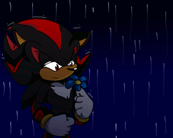 Out in the rain -rain animation test- by Meggie-Meg