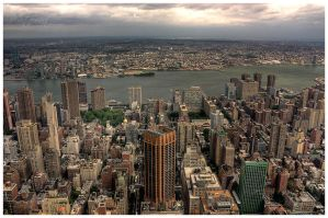 Manhattan skyline II by FlippinPhil