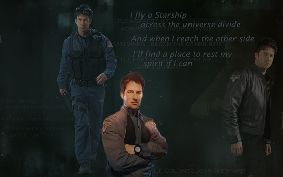 SGA Wallpaper - Sheppard by umi-pryde