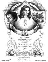 Luthien, Beren, and Huan. by mbielaczyc
