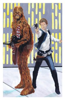 Han and Chewie by TonyMiello