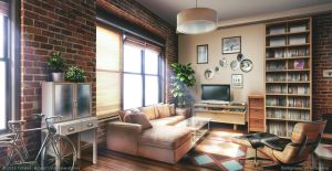 Living room - Visual Novel Background by giaonp