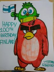 Happy 100th Birthday Finland!   by ANGRYBIRDSTIFF