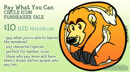 Pay What You Can Circle Icon Sale by Eevachu
