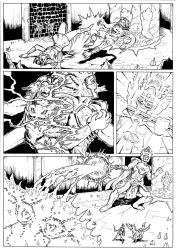 The Coming of the Towers page 41 inks by JoeTeanby