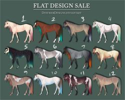 Flat Adopts - $6 Each! by DestrierDesigns