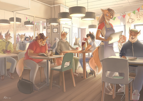 The Waterstones Cafe by WoadedFox